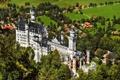 Картинка деревья, замок, башня, долина, бавария, германия, Нойшванштайн