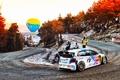 Картинка Авто, Дорога, Осень, Volkswagen, Скорость, Поворот, WRC