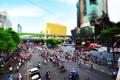 Картинка здания, tilt-shift, Азия, улица, город, машины, люди