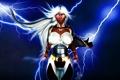 Картинка гроза, девушка, черная, storm, X-Men, афро, art