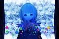 Картинка глаза, девушка, цветы, аниме, арт, 86thunder