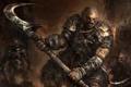 Картинка Fantasy, Art, Background, Weapon, Artwork, Warriors, Orcs