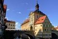 Картинка мост, река, Германия, Бамберг, старая ратуша
