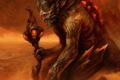 Картинка монстр, демон, рога, черепа, посох, Disciples 3, Renaissance