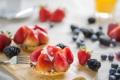 Картинка макро, клубника, ежевика, черника, ягоды