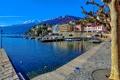 Картинка небо, пейзаж, горы, озеро, дома, Швейцария, набережная