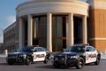 Картинка здание, полиция, колонны, Dodge, седан, додж, Charger