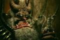 Картинка трубка, демон, рога, красавчег