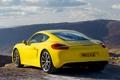 Картинка Cayman S, Porsche, кайман, вид сзади, желтый, порше