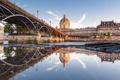 Картинка Франция, Париж, река Сена, мост Искусств