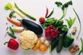 Картинка грибы, корень, еда, морковка, огурец, горох, баклажан