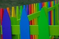 Картинка забор, ограждение, цвет, краски