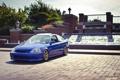 Картинка синий, honda, хонда, blue, tuning, civic