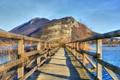 Картинка пейзаж, мост, озеро