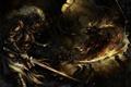 Картинка черепа, битва, воины