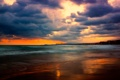Картинка облака, небо, море
