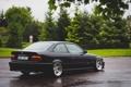 Картинка бмв, BMW, черная, black, tuning, E36