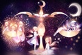 Картинка звезды, месяц, Девочки, весы, феи