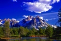 Картинка горы, лес, река, Природа