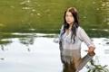 Картинка девушка, река, Angi