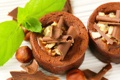 Картинка шоколад, орехи, десерт, выпечка, сладкое