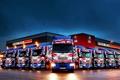 Картинка грузовики, вечер, парковка, renault, рено, trucks, premium
