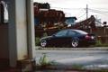 Картинка car, дождь, пасмурно, тюнинг, бмв, черная, диски
