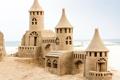 Картинка песок, пляж, замок, beach, sand, castle, замок из песка