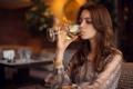 Картинка девушка, настроение, вино, Lera