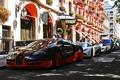 Картинка Bugatti, Veyron, Black, Street, улица, supercar