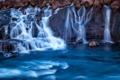Картинка вода, природа, озеро, река, скалы, водопад