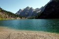 Картинка пейзаж, небо, лес, озеро, побережье, природа, горы