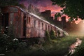 Картинка поезд, город, апокалипсис, пост, survarium