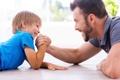 Картинка play, fun, Father, son arm wrestling