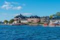 Картинка вода, город, фото, побережье, Швеция, Stockholm, Vaxholm