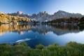 Картинка трава, пейзаж, горы, озеро, берег, Природа