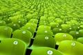 Картинка яркий, зеленый, фото, фон, цвет, разное, ряды