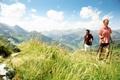 Картинка горы, природа, путешественники, nordic walking, wanderers
