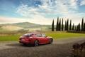 Картинка машина, небо, деревья, Porsche, Panamera