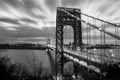 Картинка мост, река, Нью-Йорк, New York City, George Washington Bridge