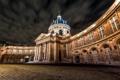 Картинка площадь, купол, Институт Франции, Париж, Франция, ночь, огни