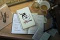 Картинка фото, стол, кофе, зажигалка, ручка, чашка, газета