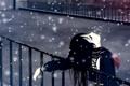Картинка девушка, снег, арт, relax, перила, форма
