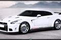 Картинка белый, горы, Egoist, Nissan GTR
