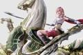 Картинка odin, девушка, броня, меч, lightning farron, final fantasy, арт