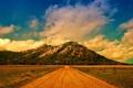 Картинка дорога, облака, пейзаж, горы