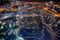 Картинка night, city, dubai, united arab emirates, lake