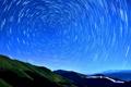 Картинка круги, ночь, холмы, съемка, звездное небо
