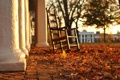 Картинка листья, Пенсильвания, осень, стул