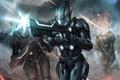 Картинка выстрелы, солдаты, арт, Galaxy Saga, битва, CHRIS ng, оружие